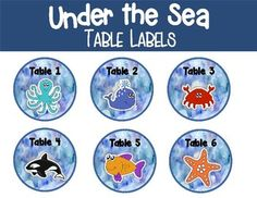 Perfect for an Ocean theme classroom!
