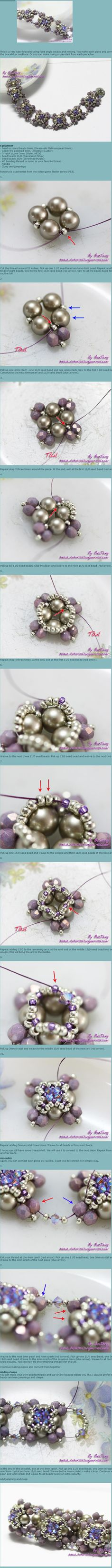 lovely beaded units for bracelets tutorial