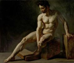 Inch Print - High quality prints (other products available) - Seated Male Nude - Jean Baptiste Edouard Detaille - Image supplied by Nottingham City Photos - Photograph printed in the USA Nude Jeans, Edouard Detaille, Emo, Nottingham City, Art Gallery, Art Of Man, Jean Baptiste, Guy Drawing, Art Uk