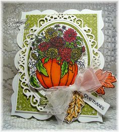 Stamps - Our Daily Bread Designs Fall Flower Pumpkin, ODBD Custom Pumpkin & Flowers Die, Autumn Blessings, ODBD Custom Fall Leaves and Acorn...