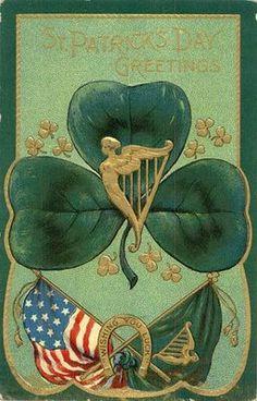 Vintage St Patricks Day Clip Art - Golden Harp | Patrick o'brian ...