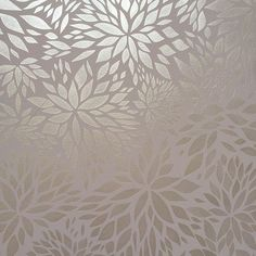 Petal Play Floral Damask Wall Stencil in metallic and matte tone on tone decorative wall finish for neutral stenciled walls - Royal Design Studio flower pattern stencils: