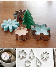 DIY candles from Cookie Cutters