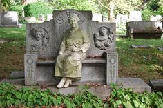 I appreciate visiting Grandma, but her sitting next to me when I do would just creep me out.  Woodlawn Cemetery NY