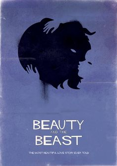 beauty and the beast retro poster