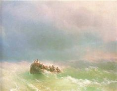On the storm - Ivan Aivazovsky - Completion Date: 1872