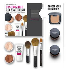 Bare Minerals starter kit. Awesome deal! I just bought this kit over the weekend. I am in love with this product line. Flawless coverage. I will not use anything else ever again. Thank goodness I listened to my lil sis Laura!