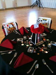 Vegas Theme King and Queen Head Table Decorations