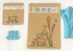 geschnitzte Käfer Stempel scrapbooking Armeise Blumen Blatt Stempel Set Insekt Sommer Garten Stempel (little garden serie) von Nesalis auf Etsy