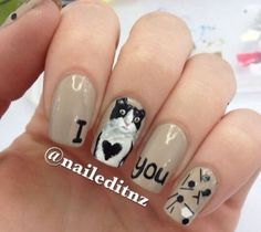 28 best Valentine's Day I Love You Nail Art Designs images on ...