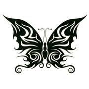 black tribal butterfly tattoo