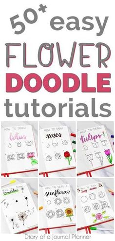 Best Flower Drawing Tutorials To Embellish Your Pages Learn how to draw flowers with these simple flower doodle tutorials step by step, including roses, lotus, tulip easy floral doodles and flower drawing tutorials. Simple Flower Drawing, Easy Flower Drawings, Flower Drawing Tutorials, Simple Flowers, Easy Drawings, Drawing Flowers, Mandala Drawing, Doodle Art For Beginners, Easy Doodle Art