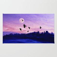Crow moon Rug