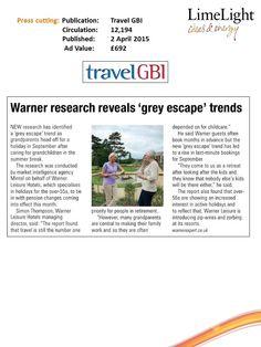 Warner research - Travel GBI - 02nd April 2015