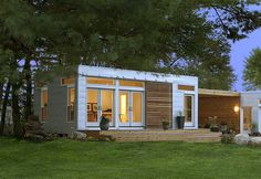 prefab manufacturer recently put the finishing touches on three Origin units combined to make a backyard home addition and artist studio