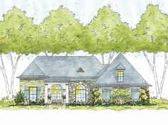 eplans french country house plan three bedroom norman 1773 square feet and 3 bedrooms