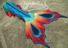 Full silicone tail by Mermaid Raven of Merbella Studios Inc. This particular tail was inspired by the beautiful Mantis Shrimp.