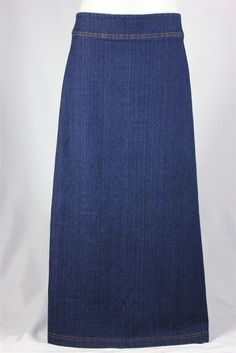 A-Line Simplicity Long Jean Skirt, Sizes 8-18: theskirtoutlet.com