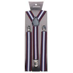 Men Boys Stripe Elastic Suspender Y-Back Adjustabel Clips Pants Accessories at…