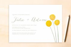 Billy Ball Wedding Invitations by Penelope Poppy at minted.com http://www.minted.com/search?s=billy+ball&x=0&y=0