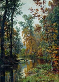Ivan Shishkin was a Russian landscape artist who specialized in paintings of forests. A Promenade in the Woods . Russian Landscape, Landscape Art, Landscape Paintings, Russian Painting, Russian Art, Design Patio, Wow Art, Oil Painting Reproductions, A4 Poster