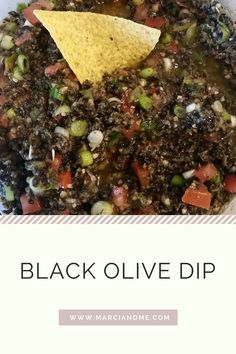 Black Olive Dip | Easy black olive dip that is sure to be a crowd pleaser! Olives, tomatoes, onions, and jalapeños merry to make a wonderful easy appetizer to prepare for any party!