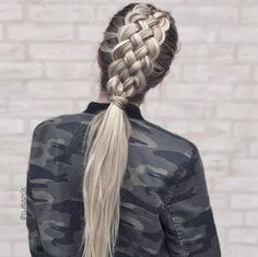 Amazing  How gorgeous is this 5 strand braid from @n.starck ?!