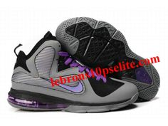 New Nike Zoom LeBron 9 Shoes Gray/Purple