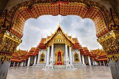 Wat Benchamabophit Dusitvanaram, un templo budista en Bangkok