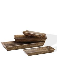 Wooden Decorative Trays Set of 4