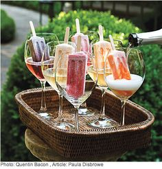 Pops with Prosecco - Grown Up Dessert! http://www.southernliving.com/food/entertaining/the-ultimate-backyard-pizza-party-00417000073815/page9.html