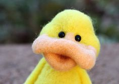 Needle Felted Wool Duck by TheWoollyPear on Etsy