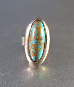 Sterling Turquoise Ring Southwestern Knuckle by LynnHislopJewels
