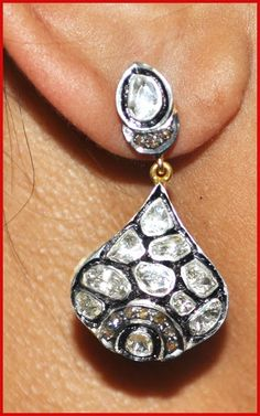 """Signature Victorian Collection....known for its international taste and appeal!    """"Polan!""""...only $650 or P28,600!!  1.54ct ROSE/UNCUT DIAMOND 14k GOLD ANTIQUE VICTORIAN LOOK STUD/EARRINGS! Imported, world-class quality, not pre-owned, not pawned, not stolen. WE DELIVER WORLDWIDE ♥"""