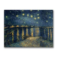 Artist: Vincent Van GoghTitle: 'Starry Night Over the Rhone' Canvas ArtProduct type: Fine art Giclee, gallery wrapped
