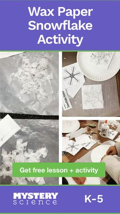 Students will learn how the shape of snowflakes causes them to look like the color of light that is shining on them. Snow Activities, Winter Activities For Kids, Winter Crafts For Kids, Winter Fun, Winter Theme, Science Activities, Classroom Activities, Cognitive Activities, Preschool Winter