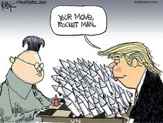 """<div class=""""at-above-post addthis_tool"""" data-url=""""http://bokbluster.com/2017/09/22/rocket-man/""""></div>President Trump (in his speech to the U.N.): """"The United States has great strength and patience, but if it is forced to defend itself or its allies, we will have no choice but to totally destroy North Korea. Rocket Man is on a suicide mission for himself and for his regime."""" Rocket Man (in his speech<!-- AddT..."""