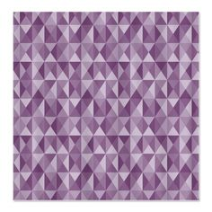 Lilac Bush Geometric Triangle Patte Shower Curtain
