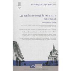 Les conflits internes de lois / Valérie Parisot  IRJS éditions, 2013