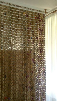 curtain made from wine corks