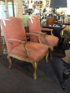 Upholstered Orange Chairs