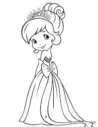 strawberry shortcake princess coloring pages - Google Search