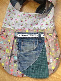 loh.la: Tasche Jadie aus alter Jeans, Stofftasche, Stoffbeutel, marketbag, tote,