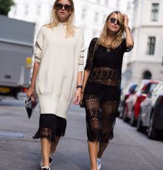 monochromatic awesomeness. Camille & Pernille in London. #CamilleOverTheRainbow #LookDePernille