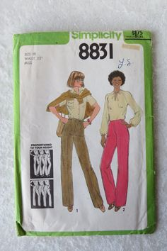 Simplicity Pattern 8831 Proportioned Pants by HeavenztoBetsyDesign