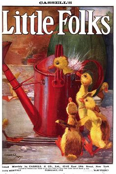 """""""Little Folks"""" Magazine - February, 1912  Cover by Ernest Aris"""