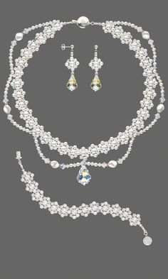 Jewelry Design - Double-Strand Necklace, Bracelet and Earring Set with Swarovski Crystal - Fire Mountain Gems and Beads