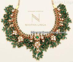 Emerald Drops Guttapusalu Necklace
