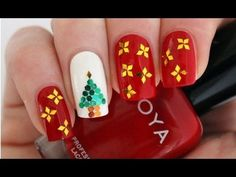 Love this  Christmas Manicure Nail Art Tutorial 2012