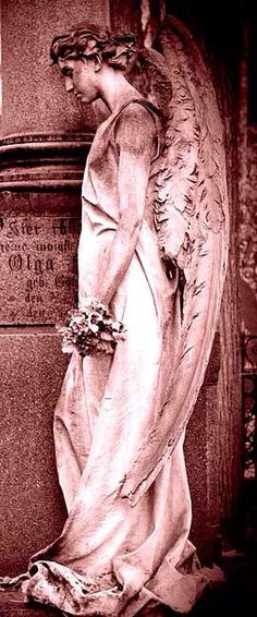☫ Angelic ☫ winged cemetery angels and zen statuary can be breathtaking. Cemetery Angels, Cemetery Statues, Cemetery Art, Angels Among Us, Angels And Demons, Statue Ange, Old Cemeteries, Graveyards, Angeles